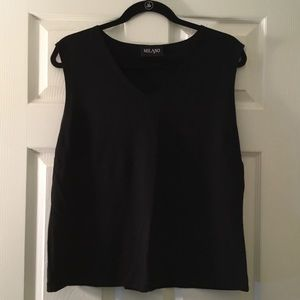 A Must Have Basic Black V Neck Tank